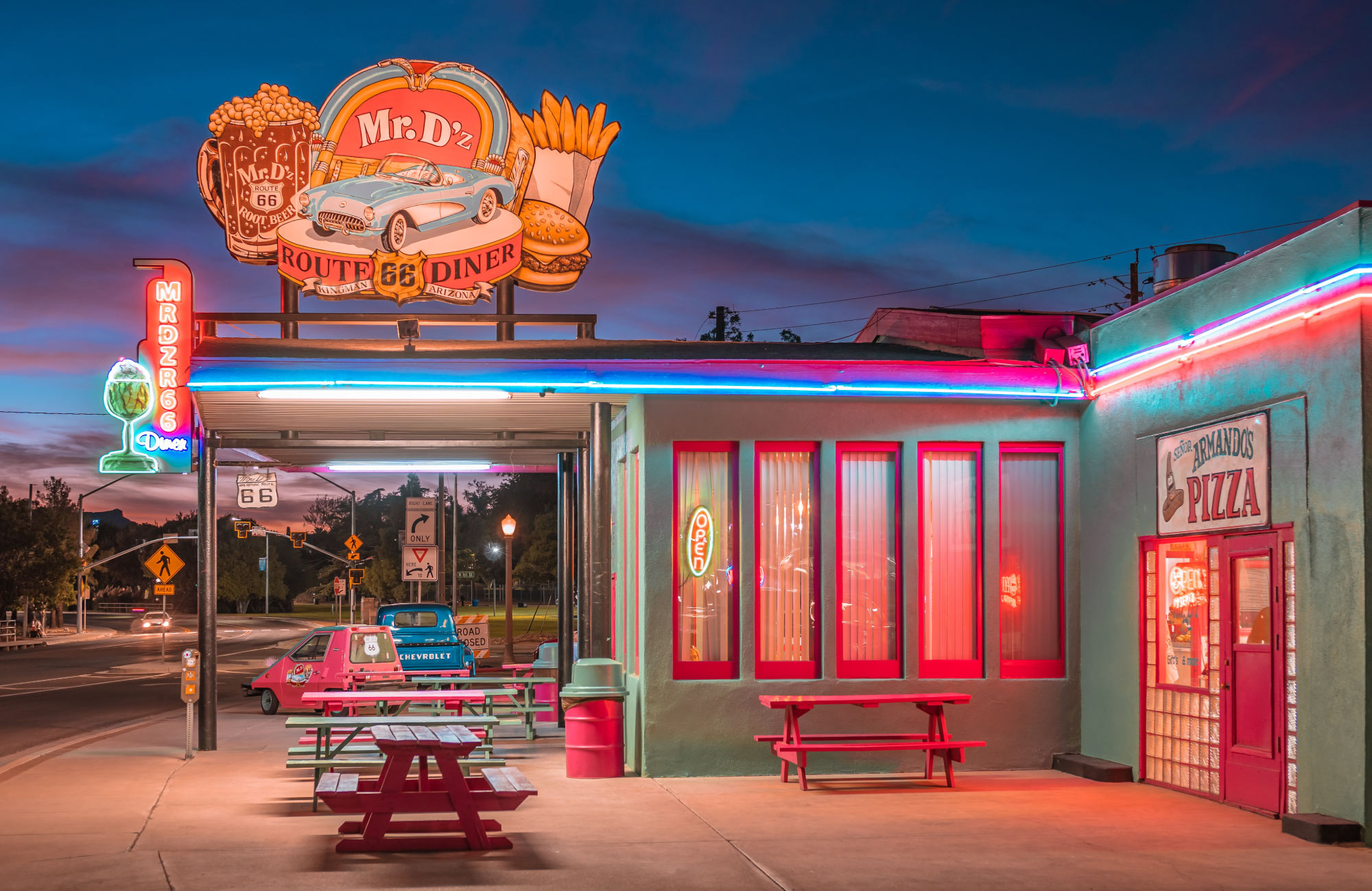 A roadside diner on the USA's Route 66.