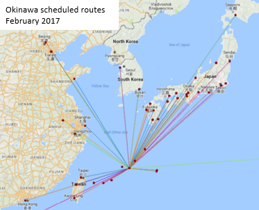Okinawa scheduled routes February 2017