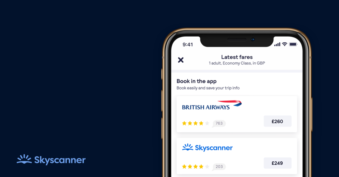 Skyscanner becomes marketplace with bookings