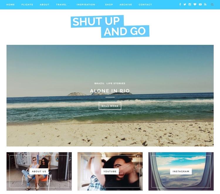 Shut Up and Go website screenshot