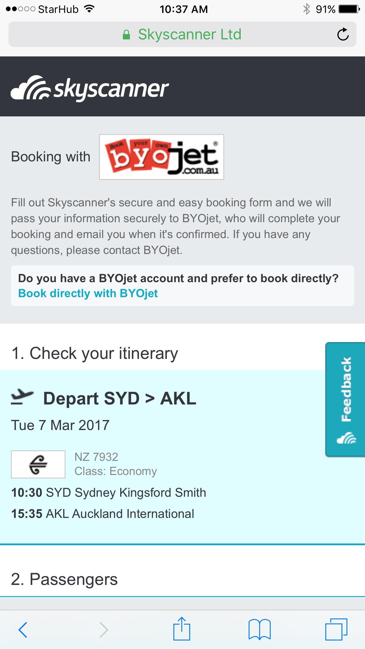 BYOJet on Skyscanner