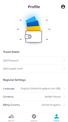 Traveller profile